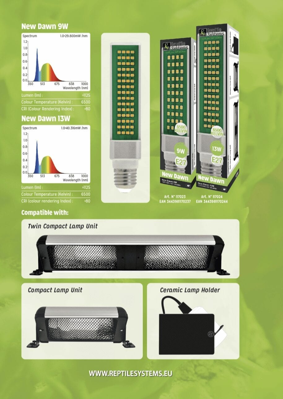 Reptile Systems New Dawn Compact LED – 9w